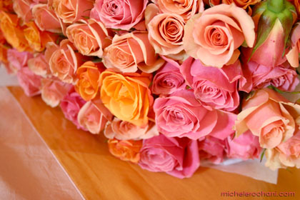 bouquet, roses, pink, peach, flower, mother�s day