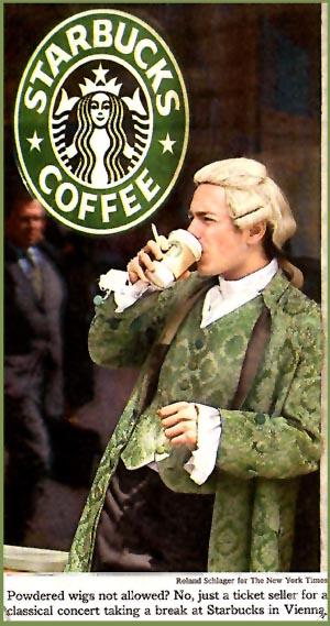 starbucks, vienna, mozart, coffee, cafe