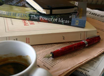 isaiah berlin, books, reading, writing, philosophy, coffee, fountain pen