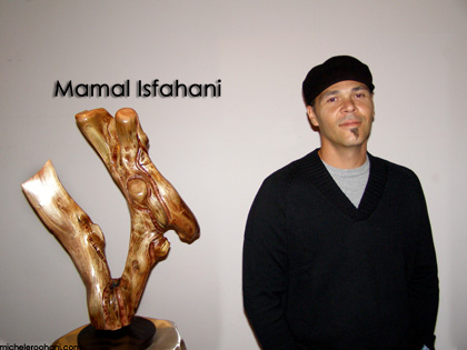 mamal, isfahani, sculptor, painter, artist, modernist, wood, iraninan, california