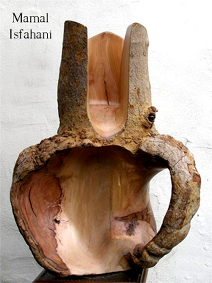 Mamal ,Isfahani, modernist, sculptor, iranian, artist ,painter, wood, art, ballista