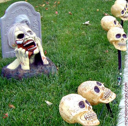 zombies halloween skulls