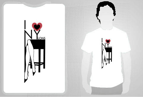 t-shirt nylons NY gruau