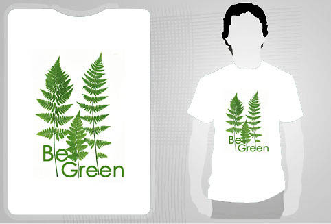 michel roohani be green t-shirt