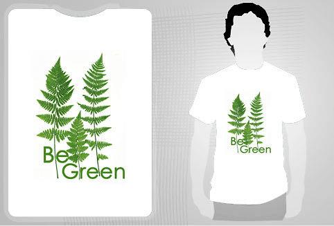 michel roohani be green t-shirt