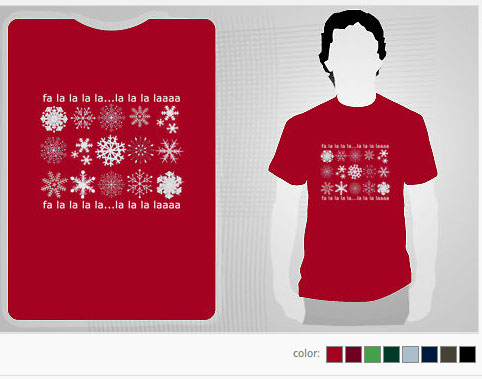 michele roohani holiday t-shirt snowflakes