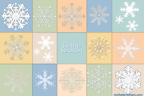 holiday snowflakes michele roohani hermes