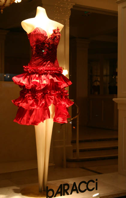 michele roohani christmas via rodeo red dress