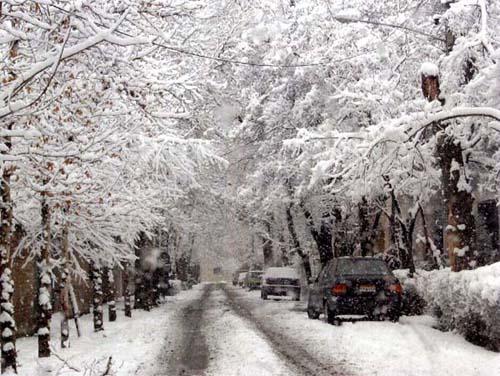 tehran under snow