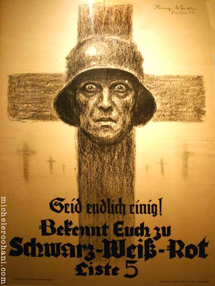 michele roohani war poster german