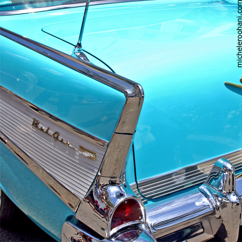 blue chevrolet belair michele roohani