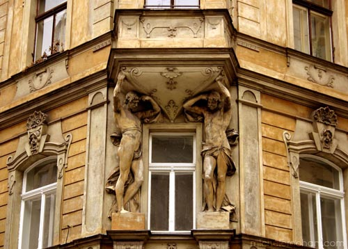 michele roohani caryatides prague honey colored