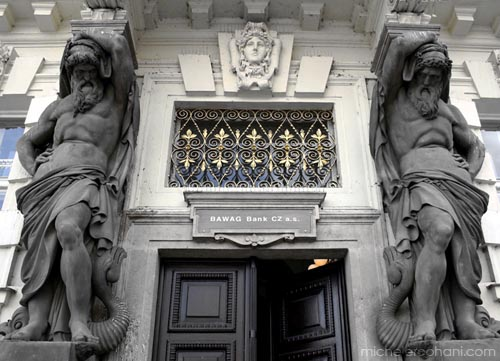 michele roohani caryatids prague bank