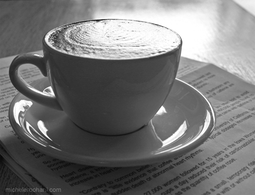 caffe luxxe cappuccino michele roohani black and white