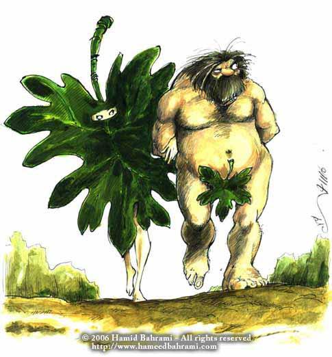 hamid bahrami cartoon fig leaf michele roohani