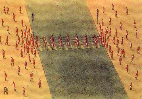 majid amini cartoon michele roohani soldiers
