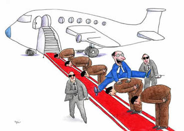 massoud ziaei cartoon michele roohani red carpet airplane