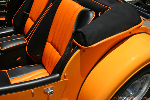 michele roohani morgan british sports car interior