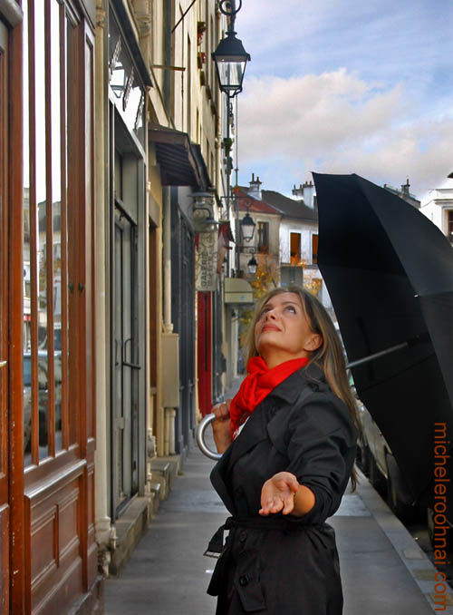 lisa tahmassi paris rain umbrella michele roohani butte aux cailles