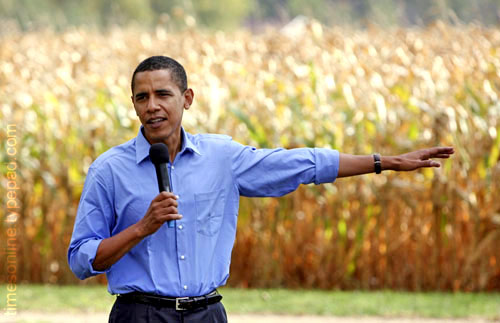 obama corn field timesonline