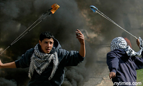 gaza kids slingshots nytimes michele roohani