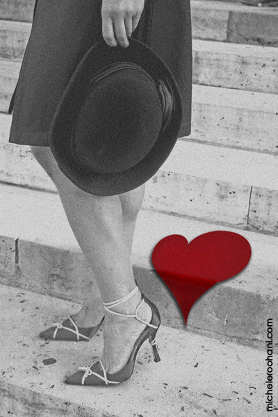 valentine 2009 michele roohani black hat red heart