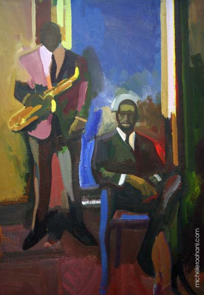 two musicians james weeks 1960 michele roohani