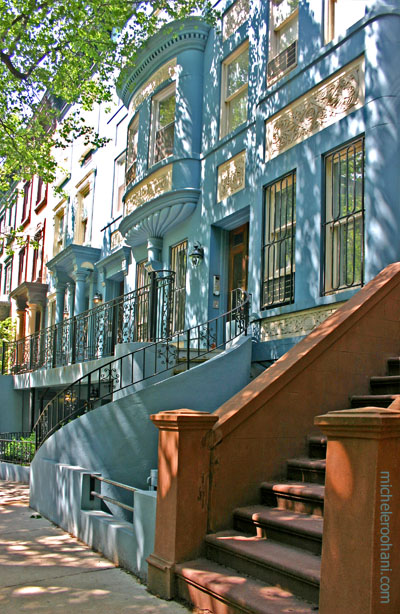 brownstone manhattan NY blue michele roohani
