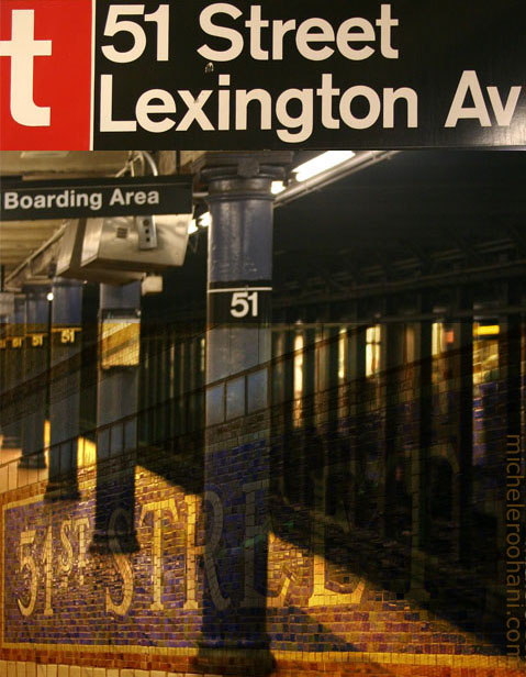 manhattan subway lexington and 51st street michele roohani