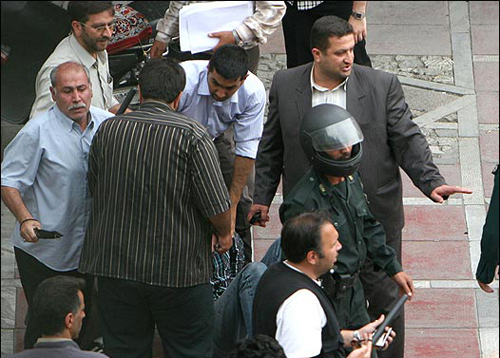 iranian thugs and police