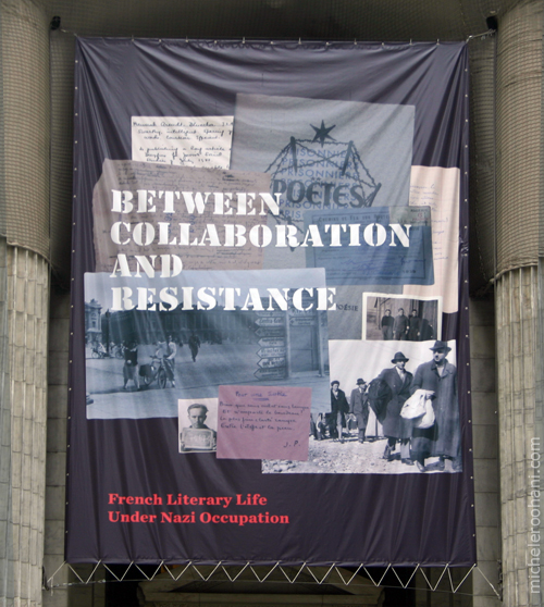 Between Collaboration and Resistance: French Literary Life Under Nazi Occupation poster michele roohani