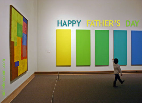 father's day micheleroohani kid in museum