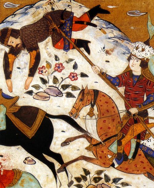 Rostam 1604 british library persian miniature michele roohani
