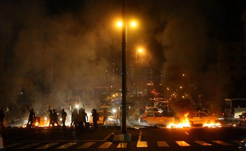tehran unrest fires