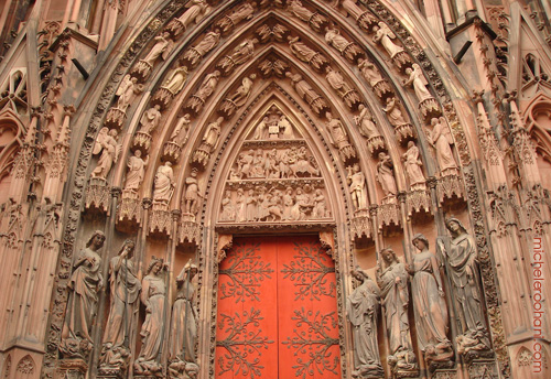 strasbourg cathedral red door michele roohani