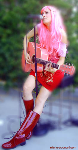 red miss pink michele roohani guitar musician