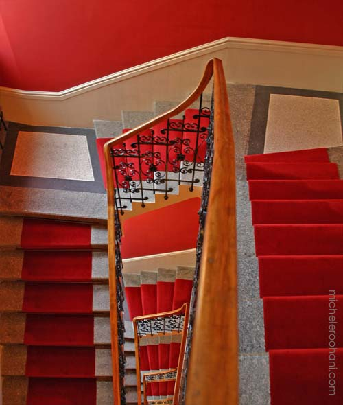 red steps stairs michele roohani prague