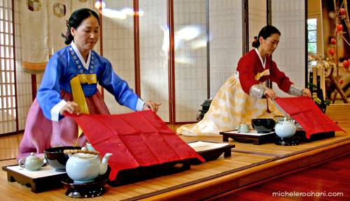 korean tea ceremony micheleroohani yoon hee kim