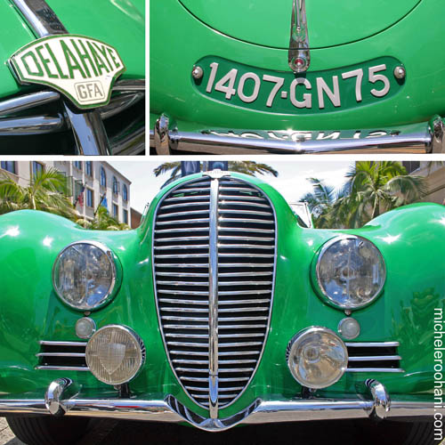 green delahaye antic car
