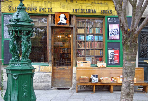 shakespear and co paris michele roohani wallace fountain