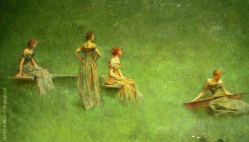Thomas Wilmer Dewing the lute freer museum michele roohani