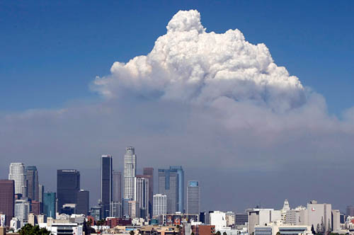 L.A. fire downtown latimes