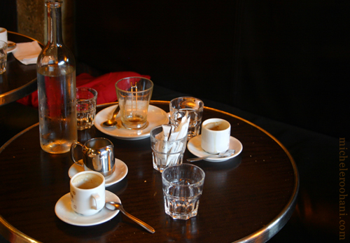empty coffee cups marias cafe michele roohani