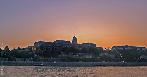 buda castle sunset budapest michele roohani