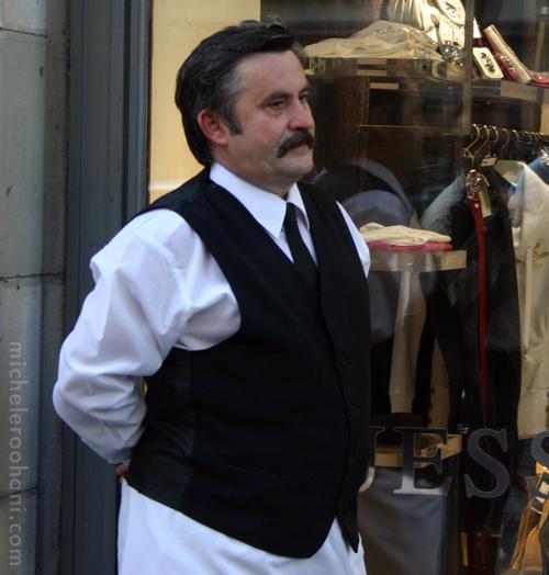 budapest hungarian waiter michele roohani