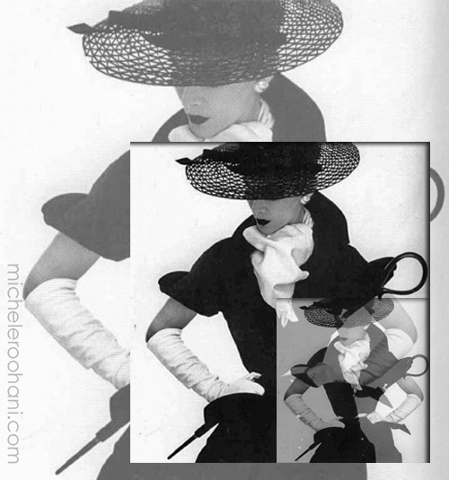 Lisa Fonssagrives irving penn michele roohani black hat