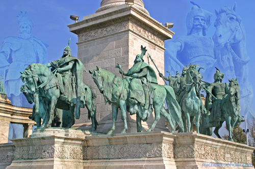 michele roohani hungarian chieftains hero's square Hősök tere budapest