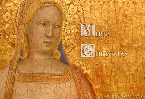 bernardo daddi saint agnes christmas 2009 card michele roohani