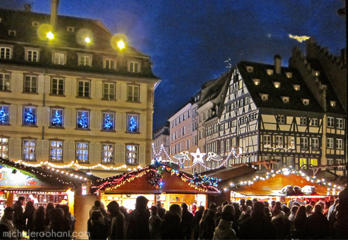 michele roohani strasbourg cathedral night christmas
