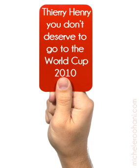 Thierry Henry handball world cup 2010 mcihele roohani